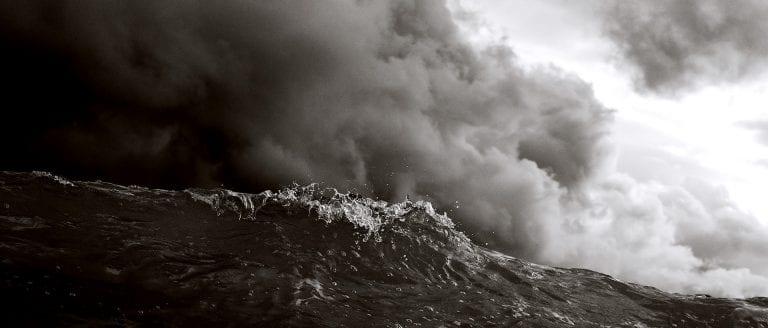 Dark Waves and Clouds representing deep Sorrow