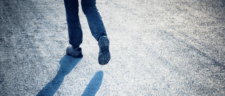 Singleness - A Man walking alone