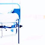 Not ready to die - empty hospital bed