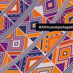 African Print in vibrant oranges and purples #AfricanApologetics on image
