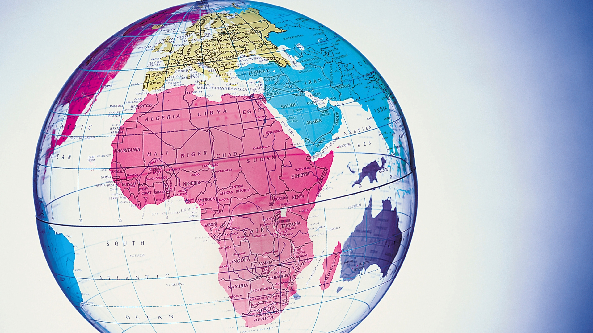 Image of African continent on a plastic globe: Tributes from Africa to Ravi Zacharias #thankyouravi