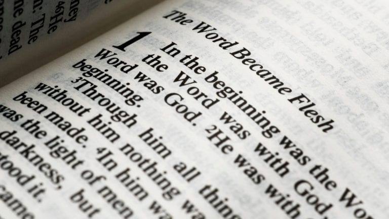 Is Jesus Really God? Text in Bible from John 1
