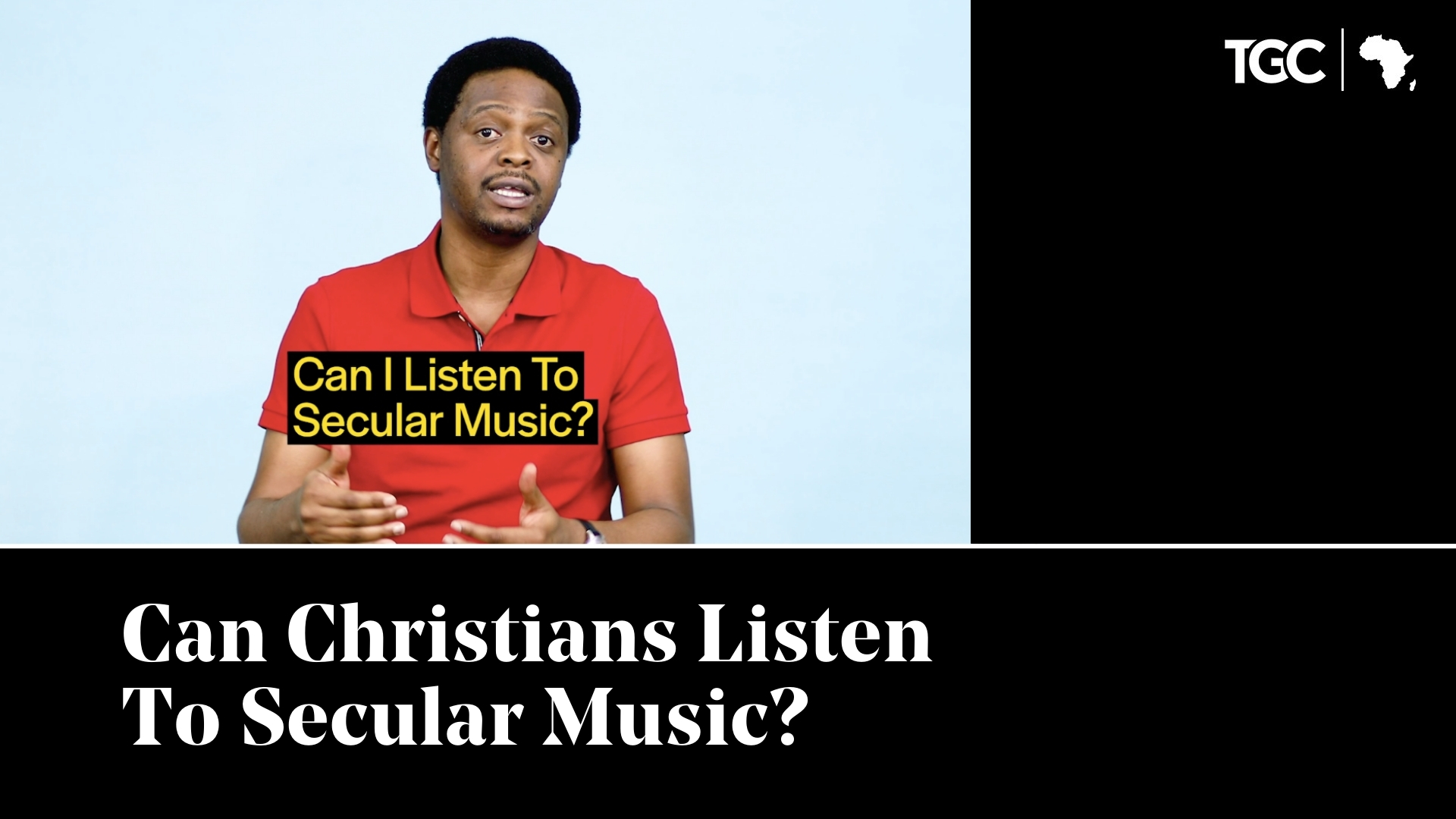 Can Christians Listen to Secular Music video cover - Femi Osunnuyi speaking to camera