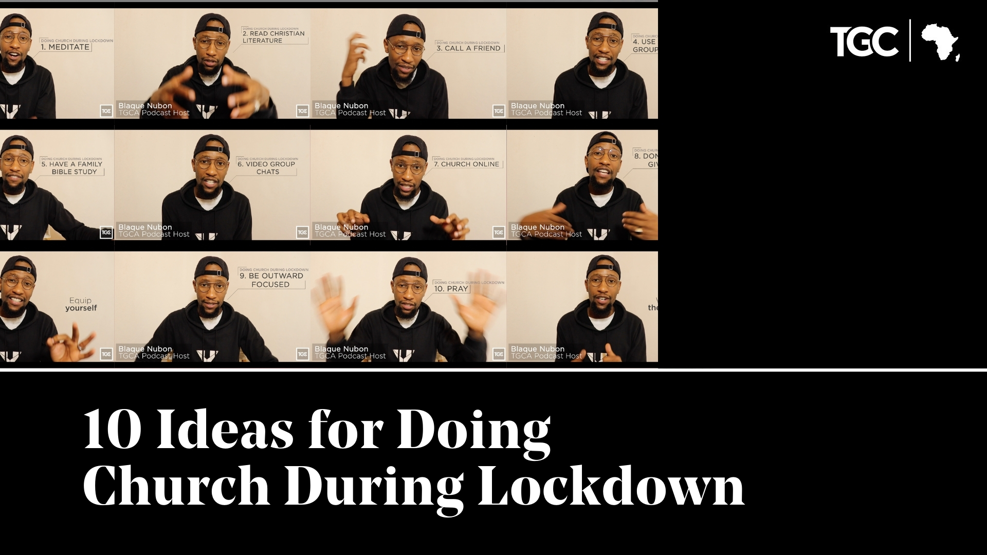 10 Ideas for Doing Church in Lockdown video cover - Blaque Nubon talking to camera