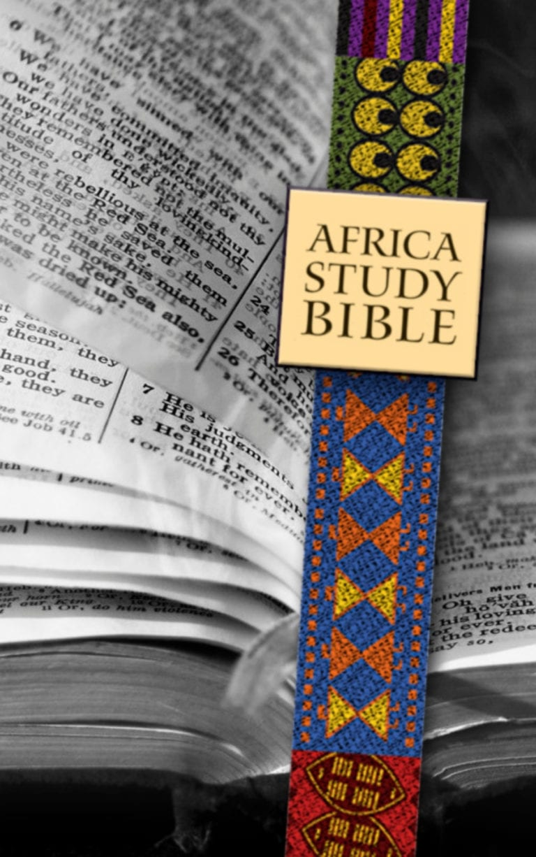 Africa Study Bible Series cover - bible and ribbon