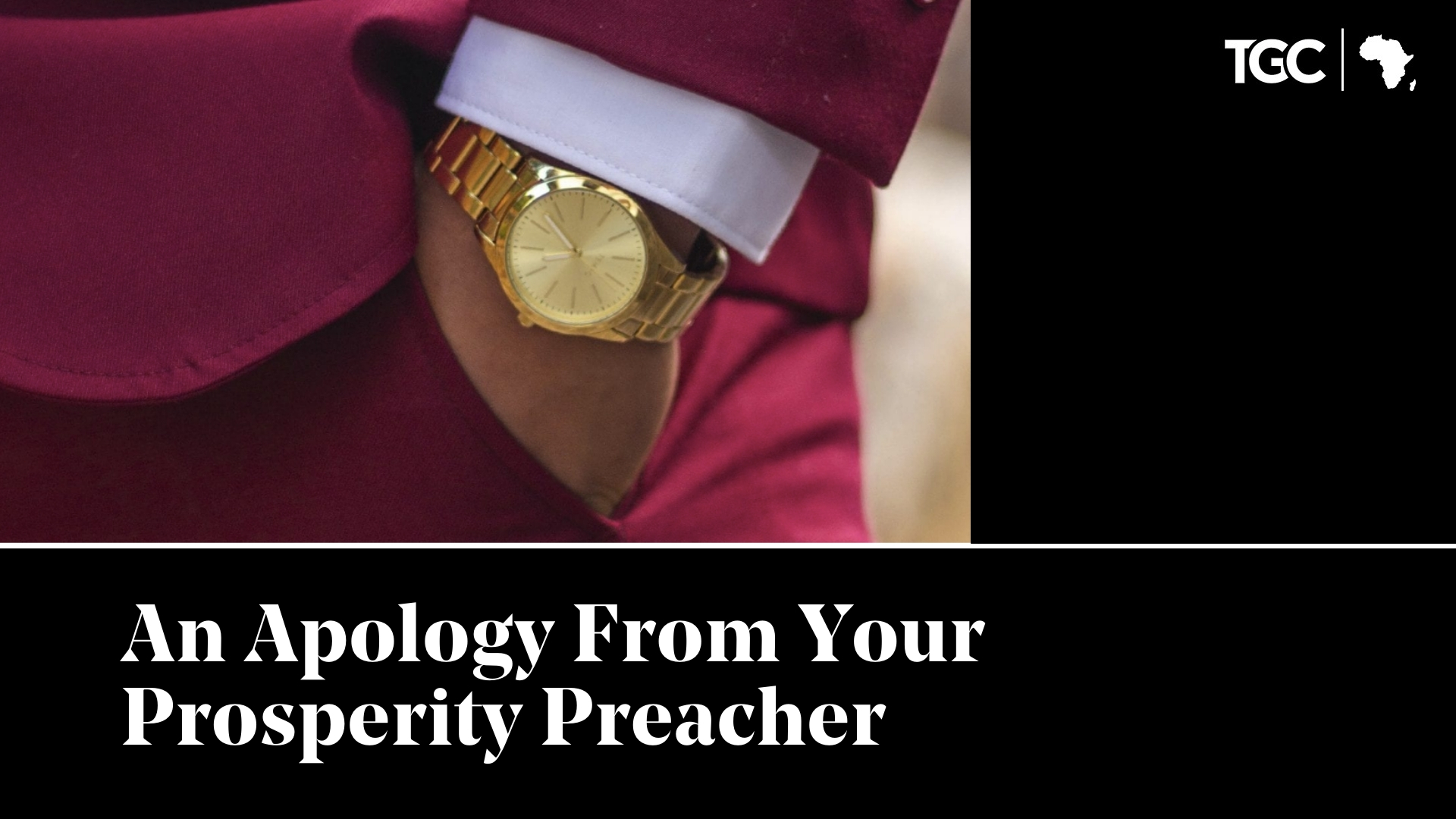 An Apology From Your Prosperity Preacher Cover