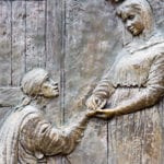 Wooden carving of Elizabeth the mother of John the Baptist