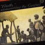 Didn't colonialism bring Christianity to Africa? Dr Livingston preaching to African group