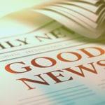 The Gospel is Good News: Newspaper headline