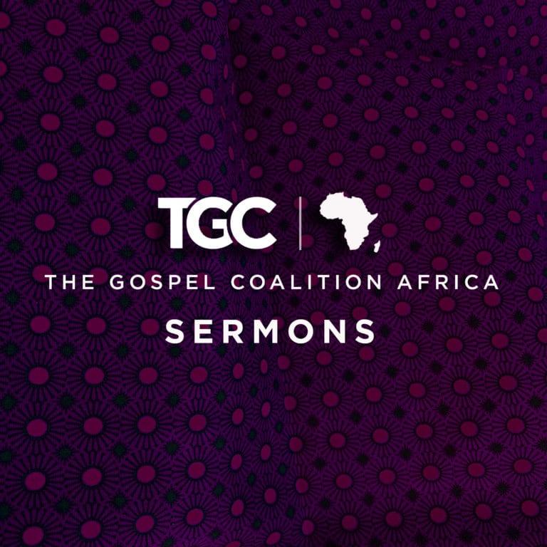 THE GOSPEL COALITION AFRICA SERMONS - TGC LOGO on purple African print fabric background