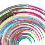 I Believe in Life Everlasting - painted multi-colour rainbow