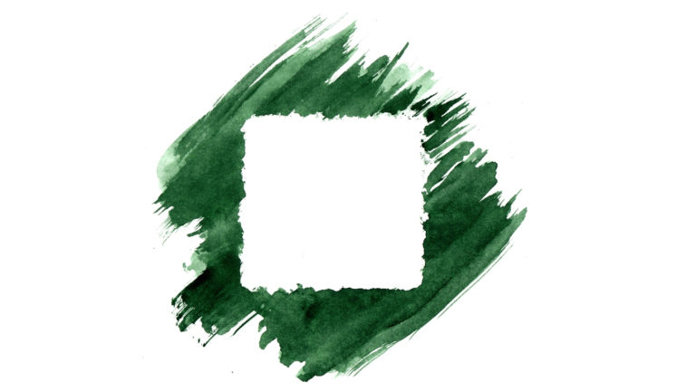 I Believe in Faith - A square outline on a green background