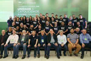 Grupo de voluntários que serviram durante a Conferência Nacional da Coalizão pelo Evangelho 2019 - Fortaleza/CE. Sentados, à frente, membros do conselho da Coalizão.